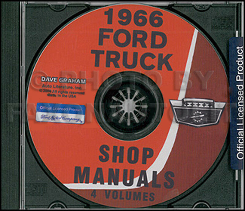 1966 Ford Truck Shop Manual Cd Pickup F100 F250 F350
