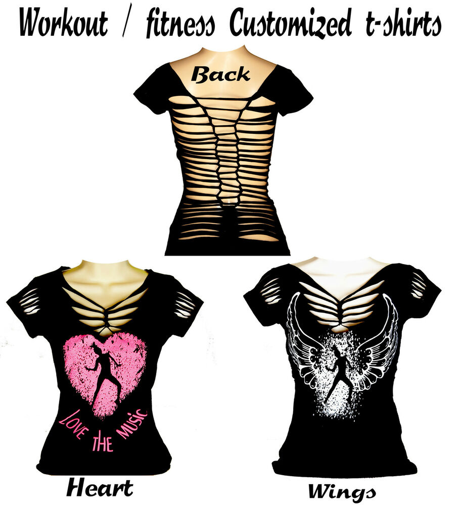 women customised t shirts sports fitness aerobics zumba. Black Bedroom Furniture Sets. Home Design Ideas