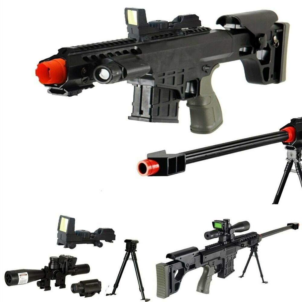 *315 FPS* Scout Sniper Tactical Airsoft Rifle M82a1 Gun M107 - RED-DOT - 35127535791 | eBay