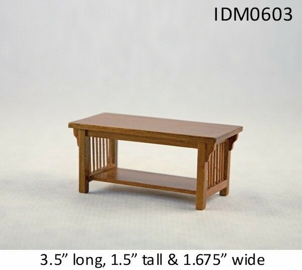 MISSION STYLE COFFEE TABLE 1 12 SCALE DOLLHOUSE MINIATURES Heirloom