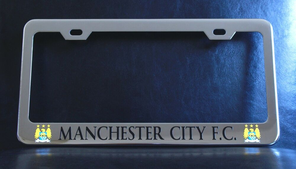 Quot Manchester City F C Quot License Plate Frame Custom Made Of
