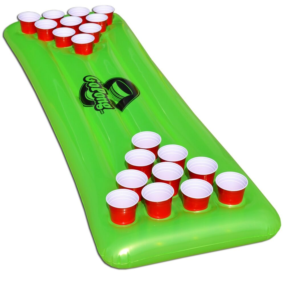 the pool pong table neon green inflatable beer pong. Black Bedroom Furniture Sets. Home Design Ideas
