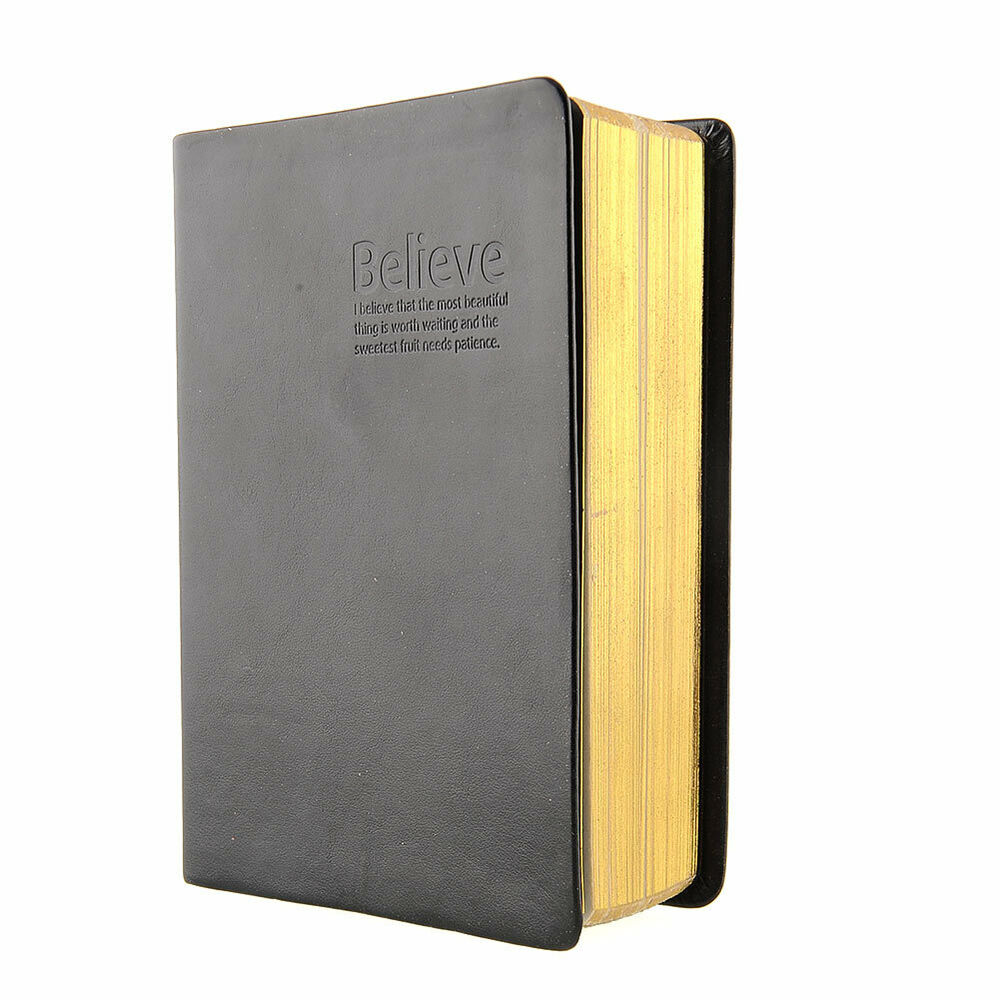 Classic Book Cover Diary : Leather cover thick blank pages notebook memo journal