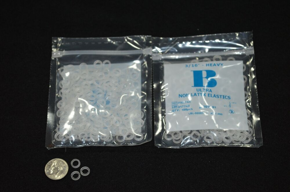 Clear 3 16 Quot Heavy 4 5 Oz Orthodontic Elastic Braces