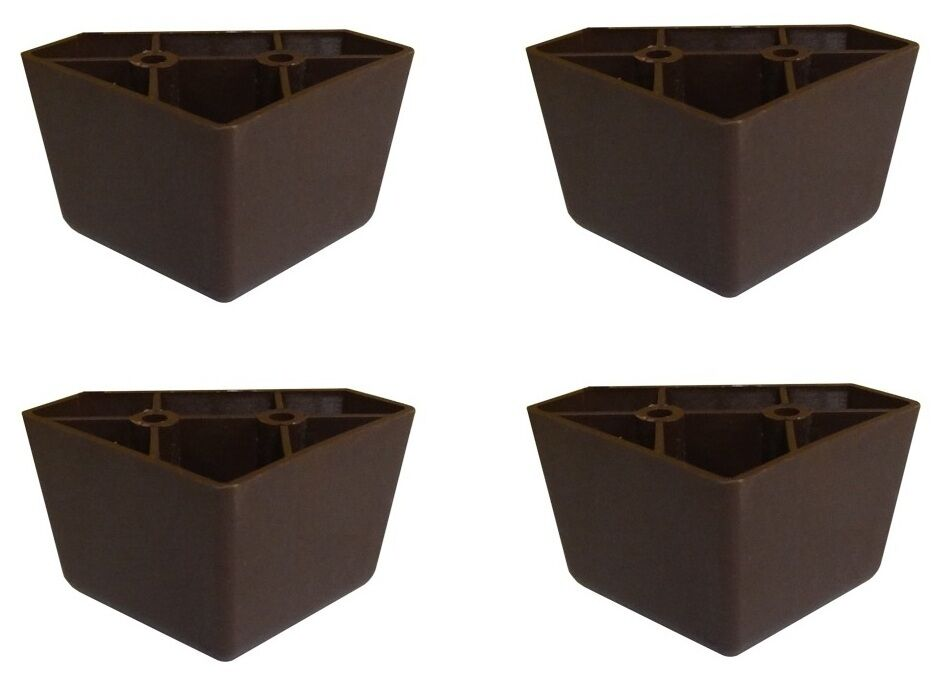 Set Of 4 Universal Dark Brown Plastic Furniture Triangle