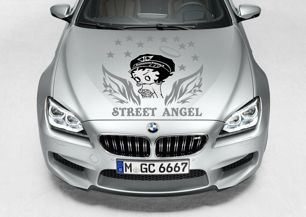 BETTY BOOP STREET ANGEL CUTE GIRL TRIBAL WINGS DECAL VINYL GRAPHIC - Vinyl decals cartribal hearts decal vinylgraphichood car hoods decals and