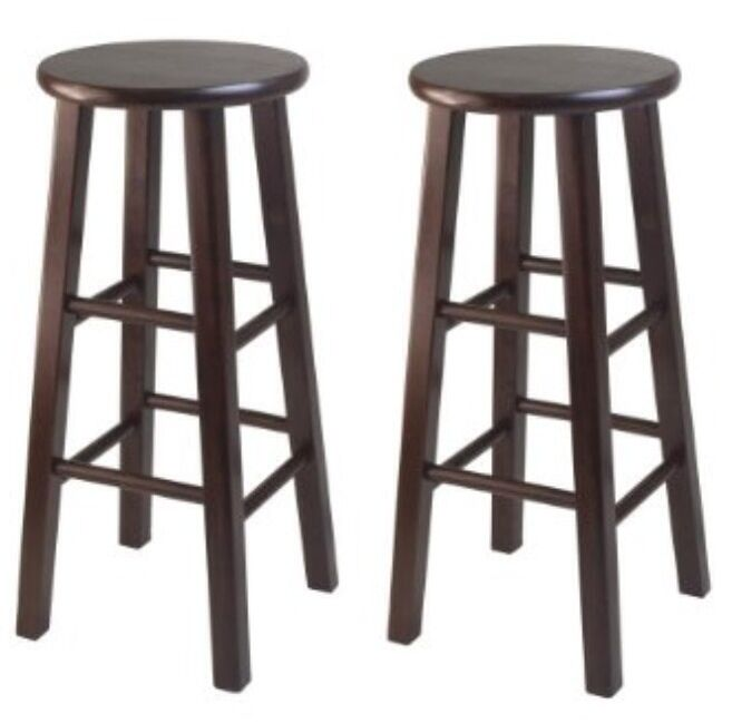 Winsome Wood 24 Inch High Square Leg Bar Stool Brown