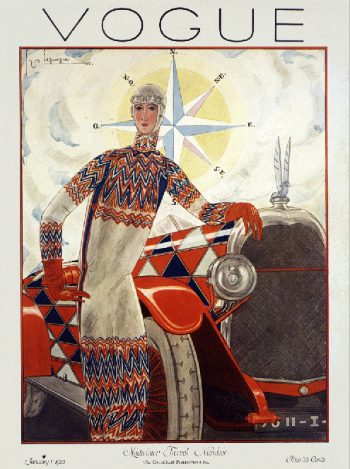 Art Deco Fashion Automobile 1920 39 S 30 39 S Magazine Cover Art