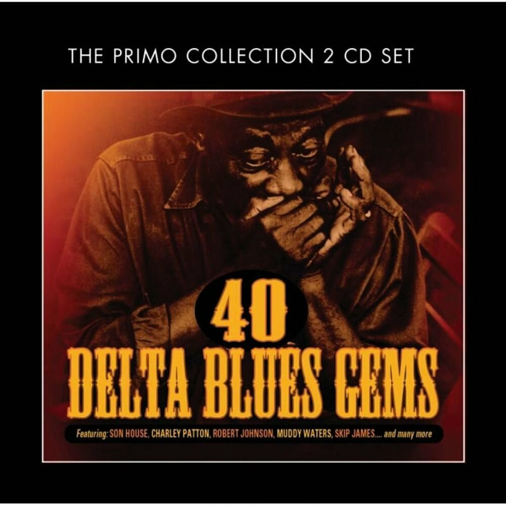 40 delta blues gems various artists best of music collection new sealed 2 cd 805520091343 ebay. Black Bedroom Furniture Sets. Home Design Ideas