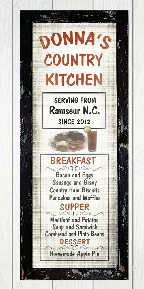 Personalized French Country Diner Kitchen Primitive Home Decor Menu Wall Sign Ebay