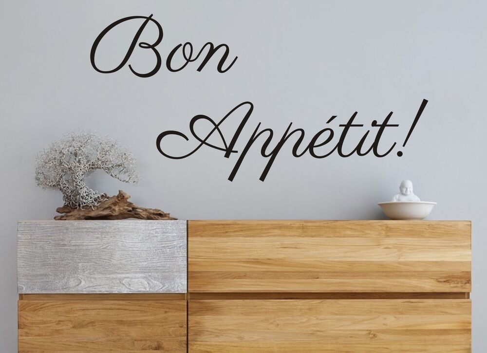 Bon appetit pa kitchen dining living room wall art vinyl for Ebay dining room wall art