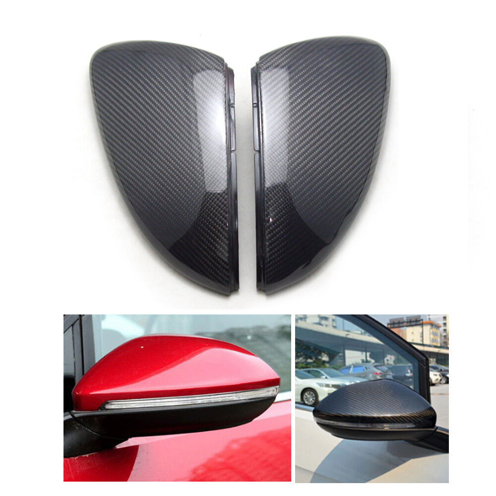Carbon Fiber Rear Mirror Cover Direct Replace For Vw Golf7