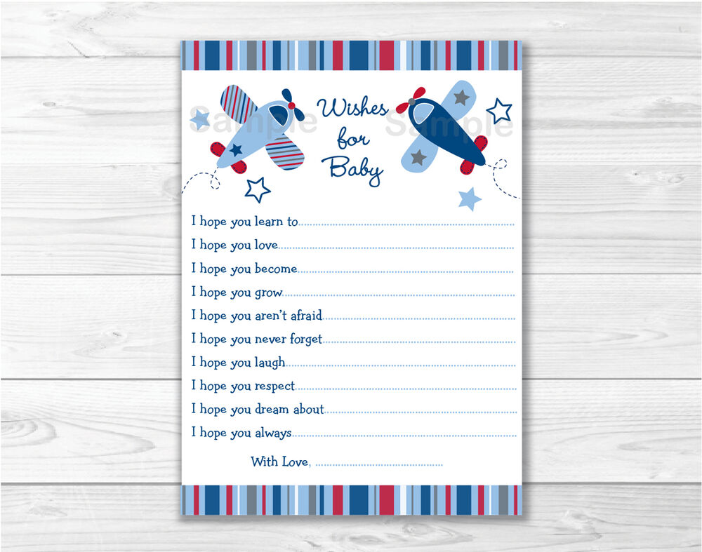 Baby Showers Uk Tips ~ Lil aviator airplane printable baby shower wishes for