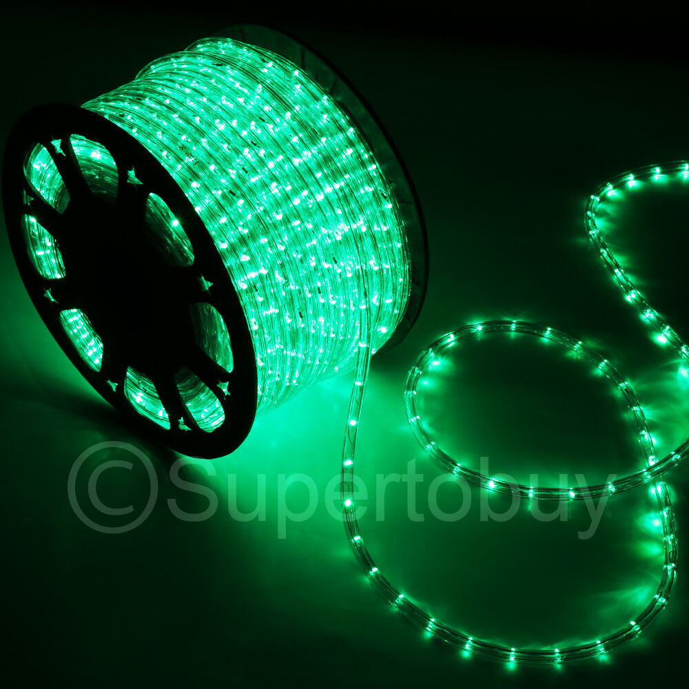 Diy Wire String Lights : Green LED Rope 150ft 110V 2 Wire Flexible DIY Lighting Outdoor Christmas xmas eBay