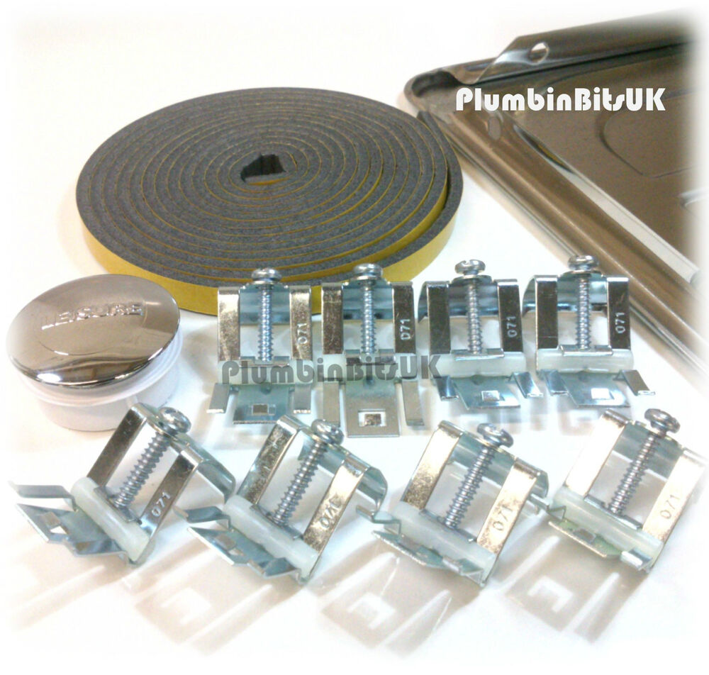 stainless steel kitchen sink fixing pack kit with adjustable clips by leisure ebay - Kitchen Sink Clips