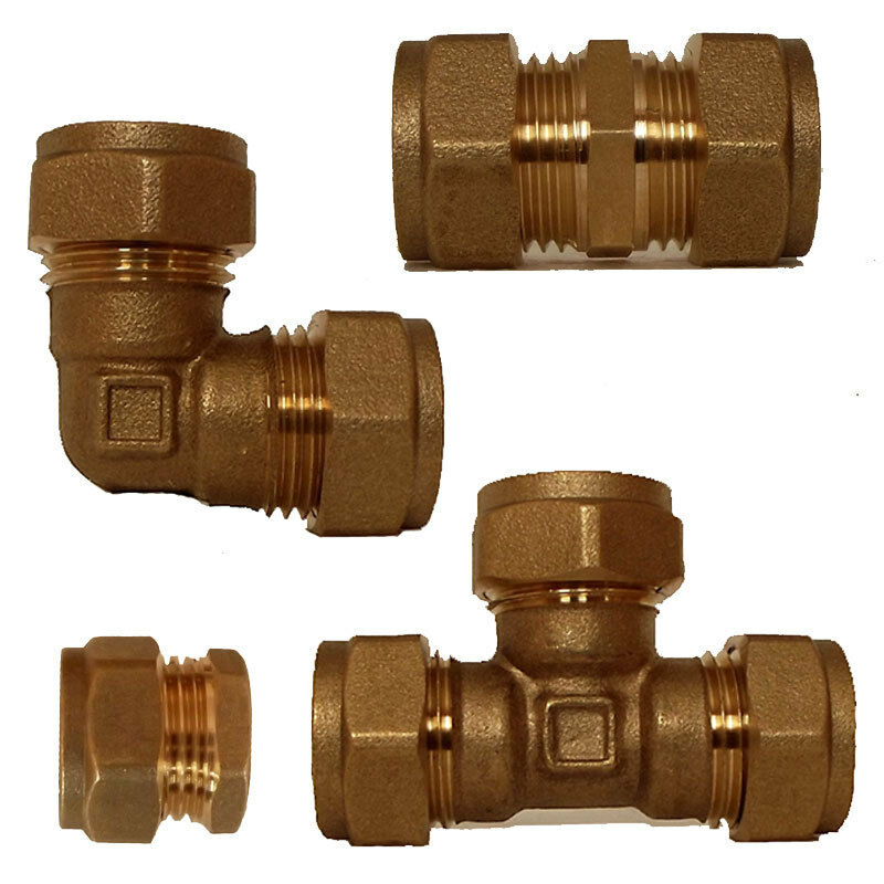 Compression elbow equal tee straight coupler mm brass