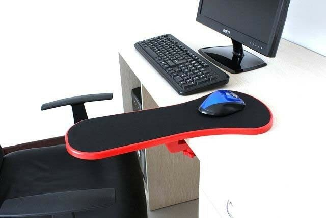Red Home Office Computer Arm Rest Chair Desk Armrest Mouse