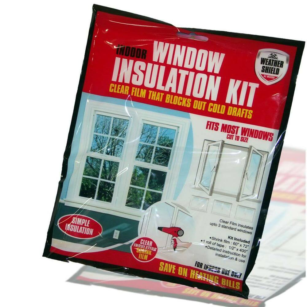 Draft excluder insulation kit double glazing film glass for Window insulation rating