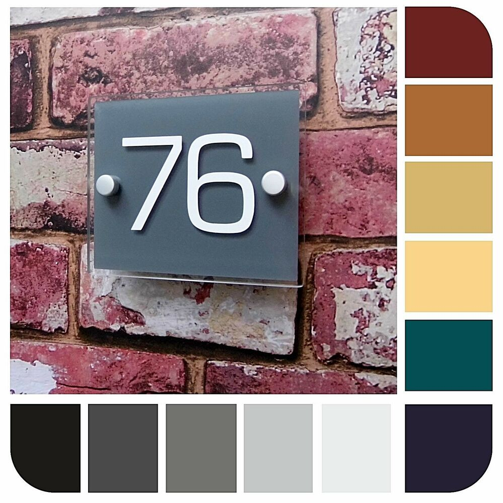 ... Sign Door Number Apartment Plaque Colour Options Available!  eBay