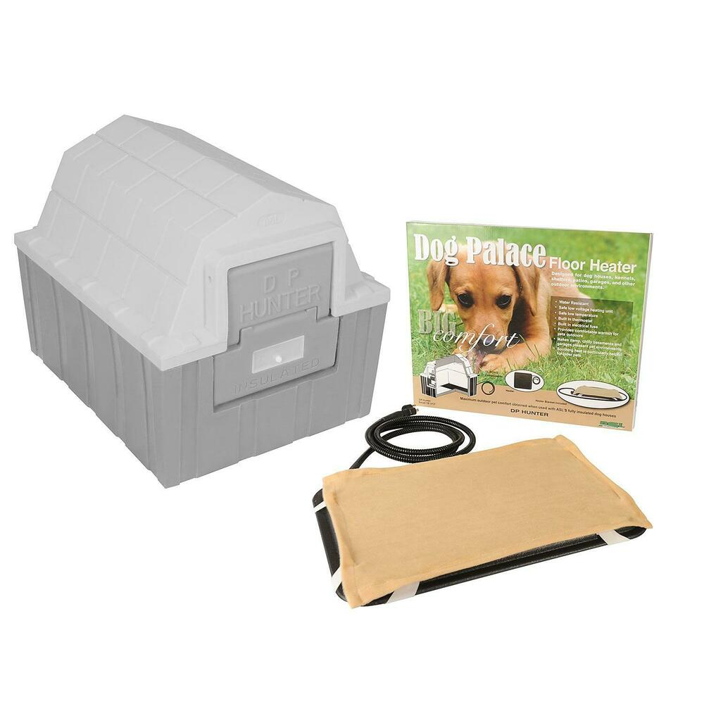 New heated doghouse outdoor insulated dog house with floor for Insulated heated dog house