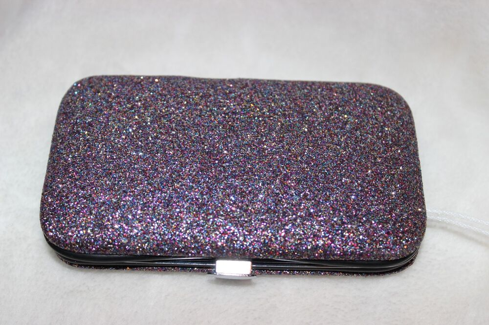 ULTA 6pc Manicure Kit in Purple Glitter Compact Nail Clippers File ...