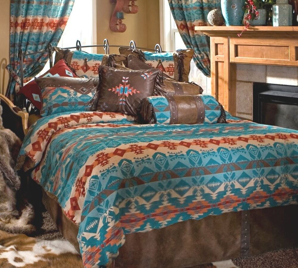 Turquoise Chamarro Bedding Collections West Southwest