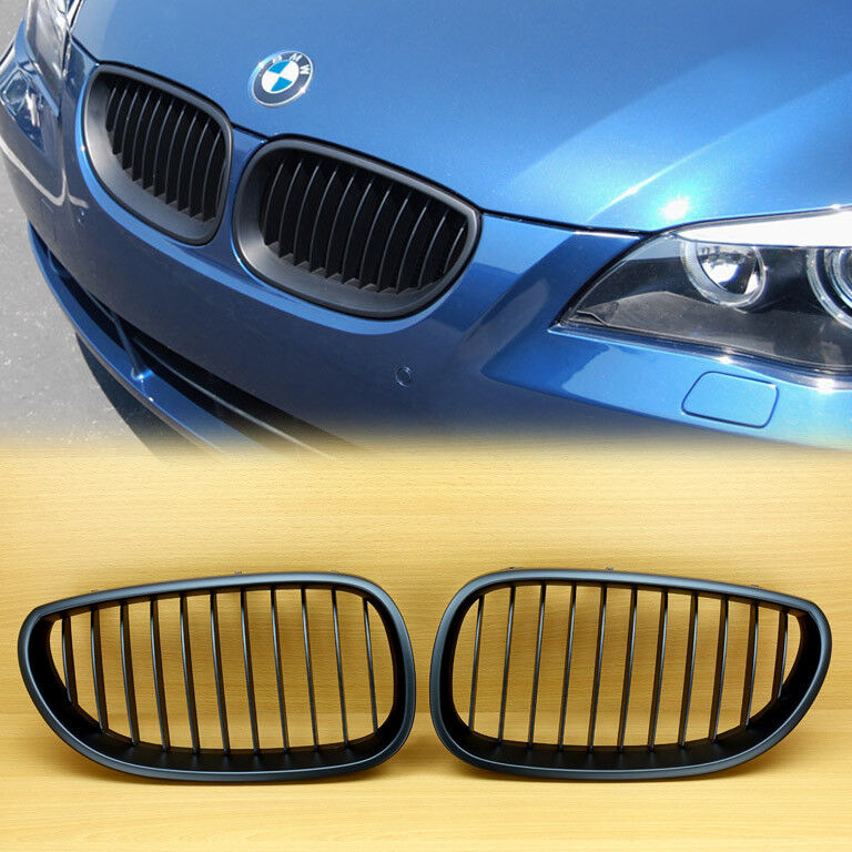 Bmw Grills: Matte Black BMW 5-Series E60 E61 Front Kidney Grille Grill