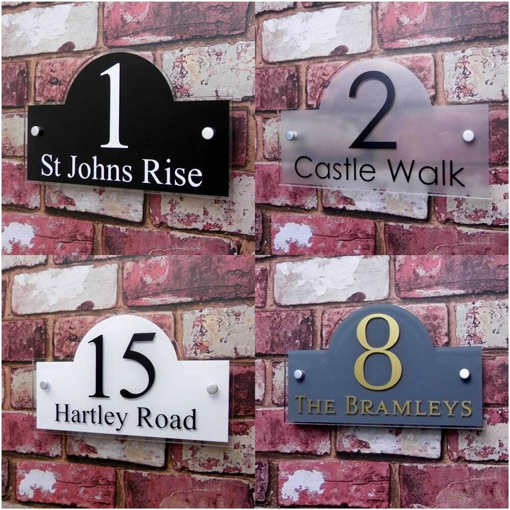 Personalised House Sign Door Number Street Address Plaque