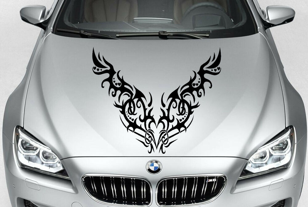TRIBAL HEARTS DECAL VINYL GRAPHIC HOOD CAR TRUCK EBay - Hello kitty custom vinyl decals for car