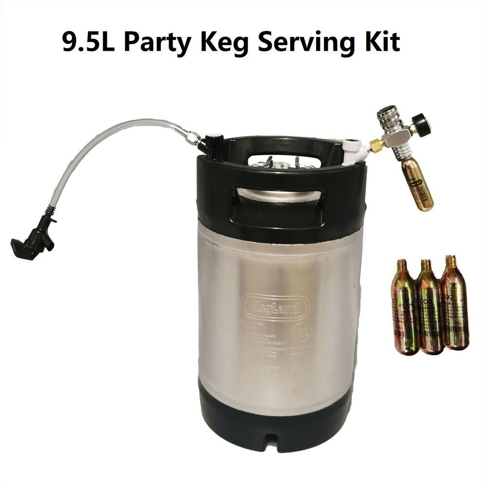 Brand New 9 5l S Steel Ball Lock Party Picnic Keg Kit With
