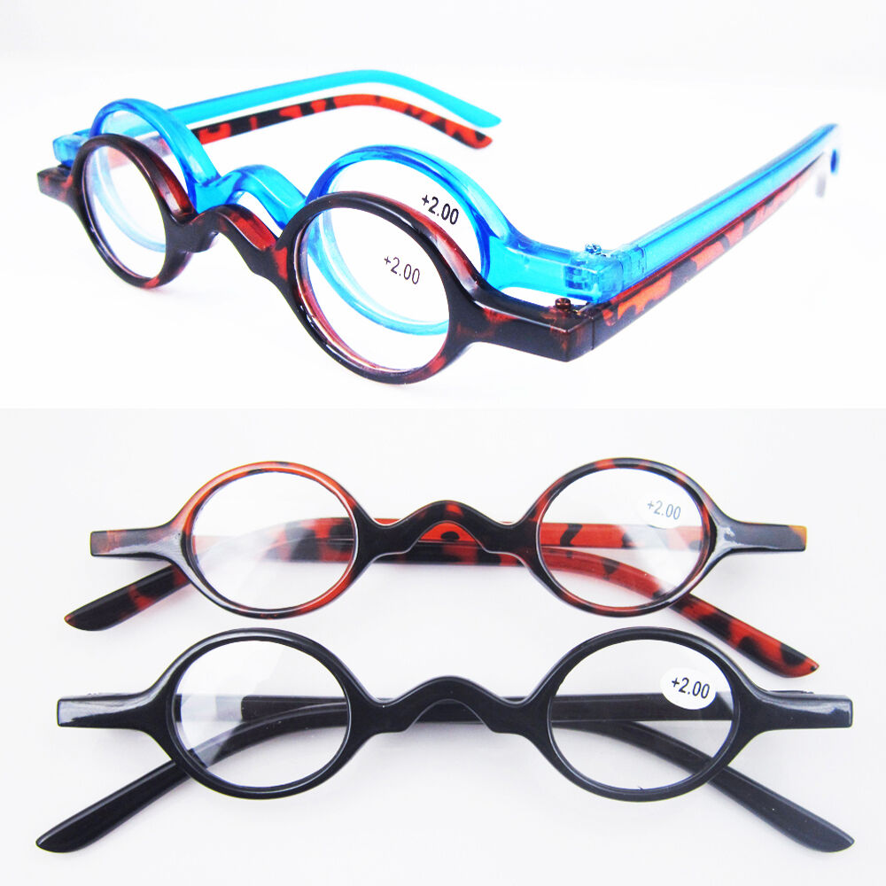 designer small oval vintage reading glasses