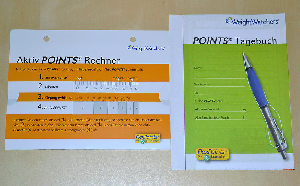 weight watchers aktiv points rechner calculator mit tagebuch ihr start in 2014 ebay. Black Bedroom Furniture Sets. Home Design Ideas