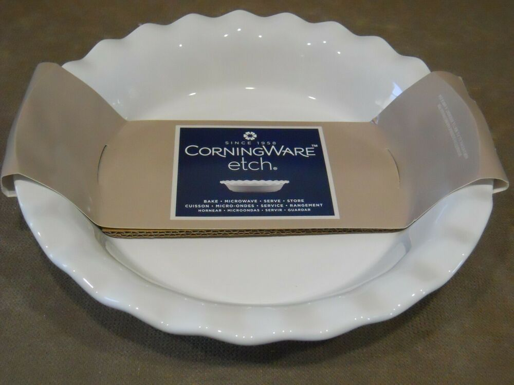 Corningware 9 5 Quot Etch Stoneware Pie Plate Choice Blue