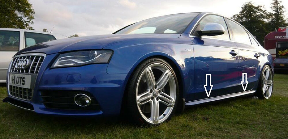 Audi A4 B8 S4 Rs4 S Line Side Skirts Spoilers Saloon
