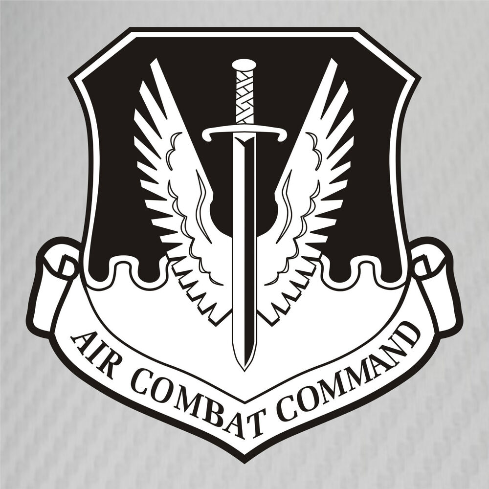 Usaf Air Combat Command Patch Subdued Vinyl Graphics Decal