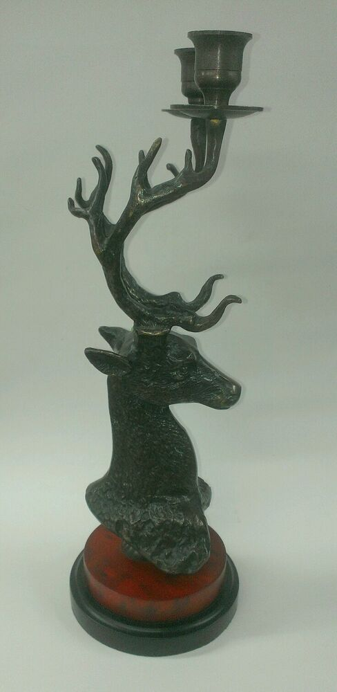 Metal deer candle stick holder home decor ebay Home decor candlesticks