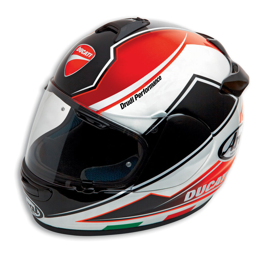 ducati arai chaser v theme helm helmet schwarz rot neu. Black Bedroom Furniture Sets. Home Design Ideas