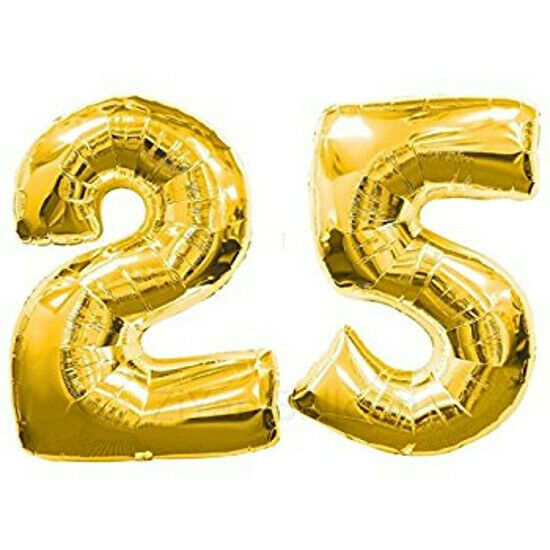 Number 25 Balloons 25th Silver Wedding Anniversary