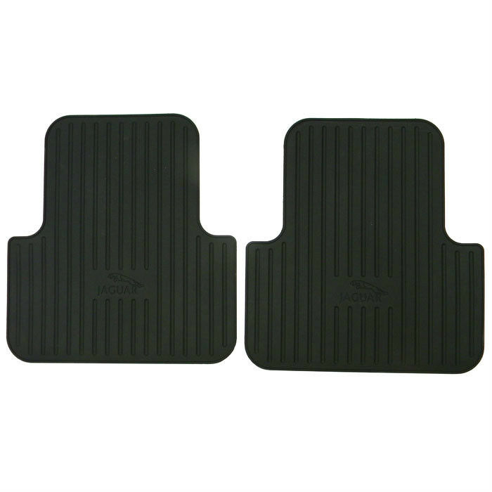 Jaguar Xj8 Xjr 2004 2009 Oem Rear Rubber Floor Mat Set 2