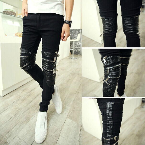 Green Moto Pants With Black Shoes