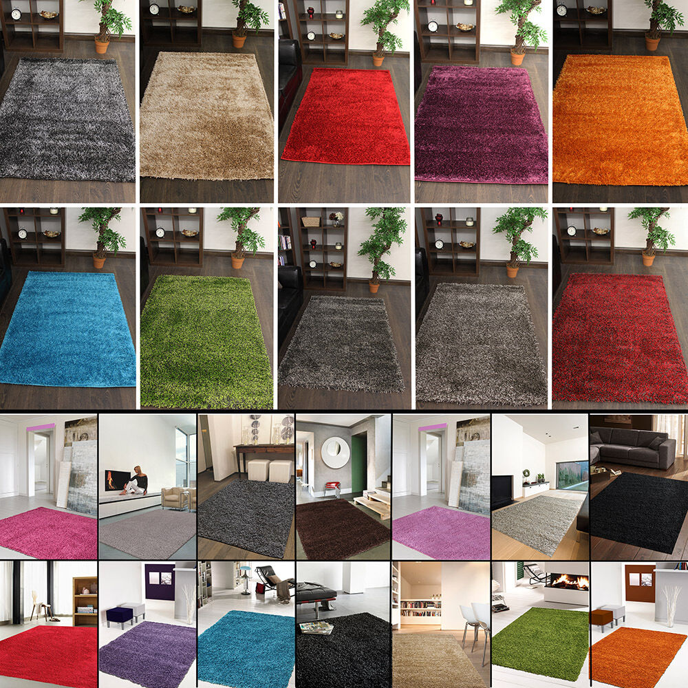 quality shaggy rugs lounge bedroom various colours cheap ebay