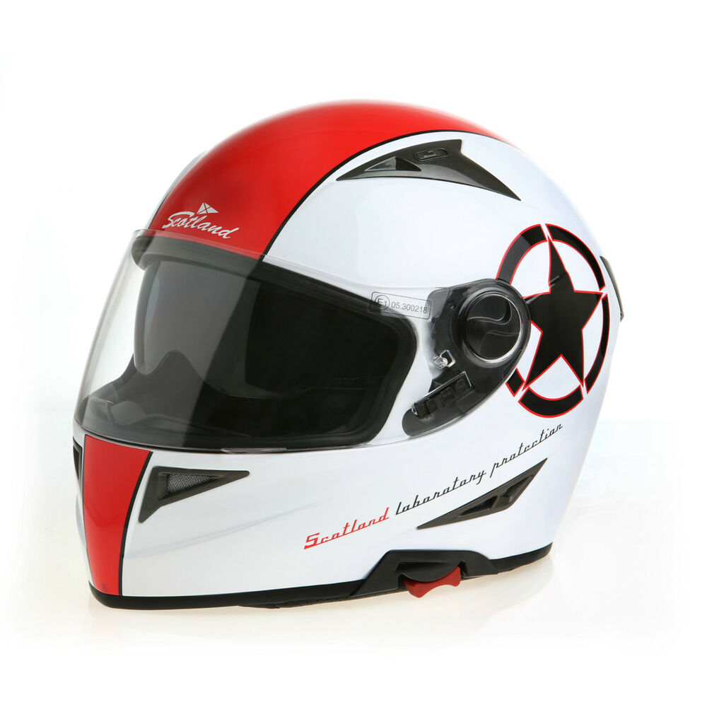 casco integrale moto helme helmet capacete casque scotland bicolor 120006 ducati ebay. Black Bedroom Furniture Sets. Home Design Ideas