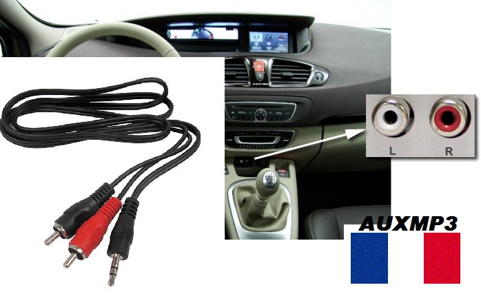 cable auxiliaire rca ipod iphone mp3 musique peugeot 407 408 208 308 307 207 ebay. Black Bedroom Furniture Sets. Home Design Ideas