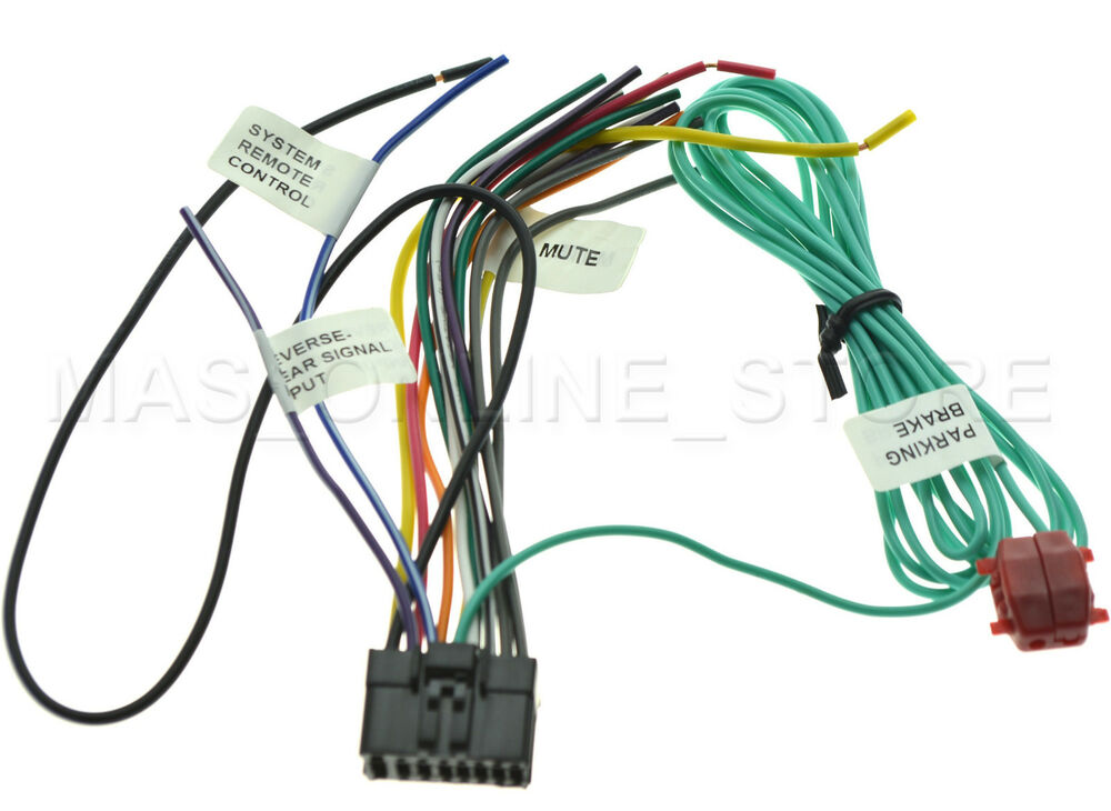 s l1000 pioneer car audio and video wire harness ebay pioneer avh p3300bt wiring harness color code at gsmportal.co