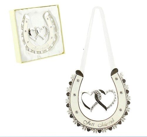 Horseshoe Wedding Gift: Lucky Horseshoe Wedding Gift Amore Double Heart Horsehoe