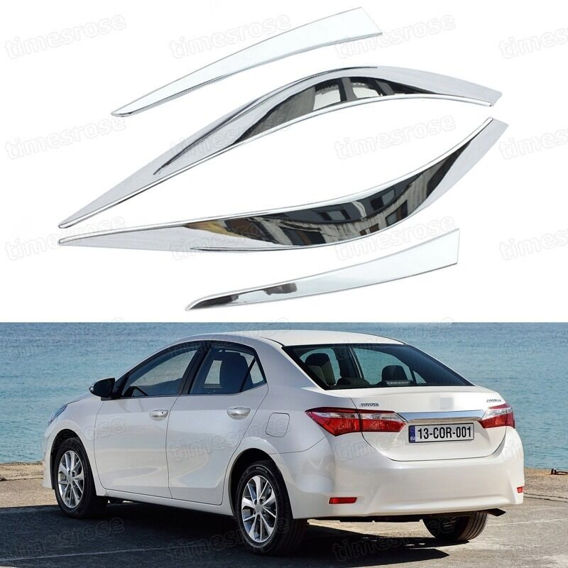 chrome rear lamp tail light frame cover trim fit for toyota corolla 2014 ebay. Black Bedroom Furniture Sets. Home Design Ideas