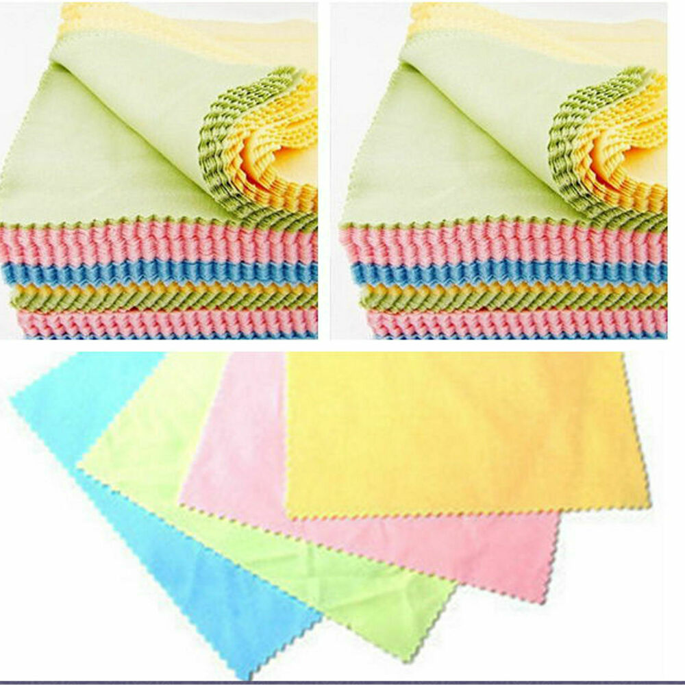 Microfiber Cloth For Lenses: 100pcs Microfiber Lens Glasses Cleaning Cloths Wipe For