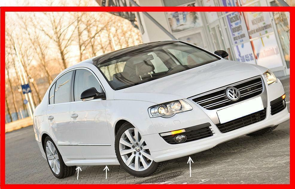 vw passat b6 3c saloon body kit r line look front spoiler. Black Bedroom Furniture Sets. Home Design Ideas