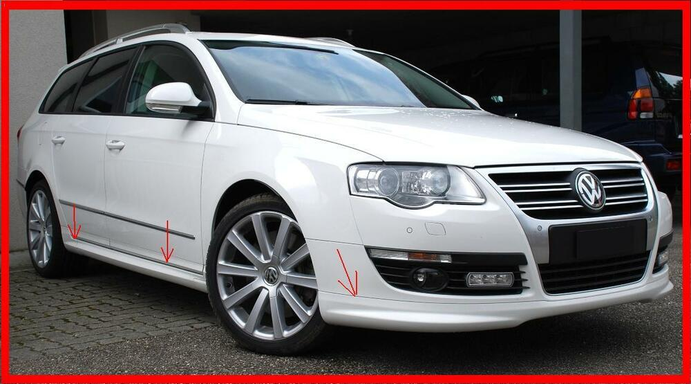 vw passat b6 3c estate body kit r line look front spoiler. Black Bedroom Furniture Sets. Home Design Ideas