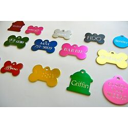Kyпить CUSTOM ENGRAVED PERSONALIZED PET TAG ID DOG CAT NAME TAGS DOUBLE SIDE на еВаy.соm